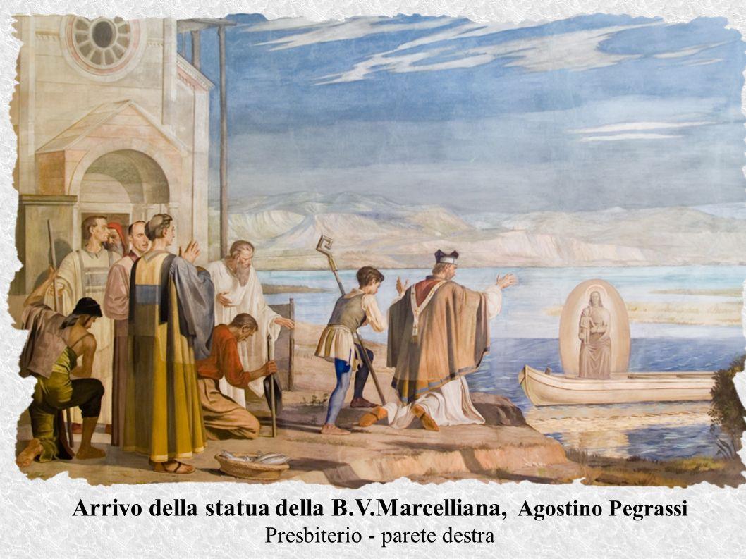 Arrivo della statua della B.V.Marcelliana, Agostino Pegrassi Presbiterio - parete destra
