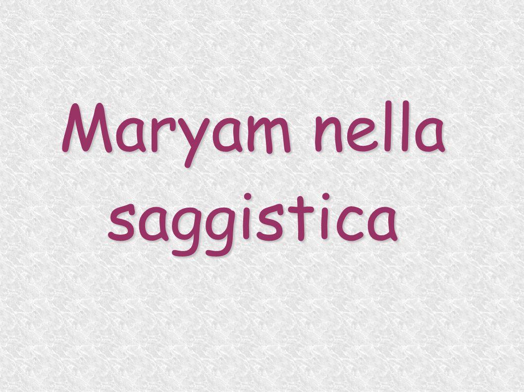 Maryam nella saggistica