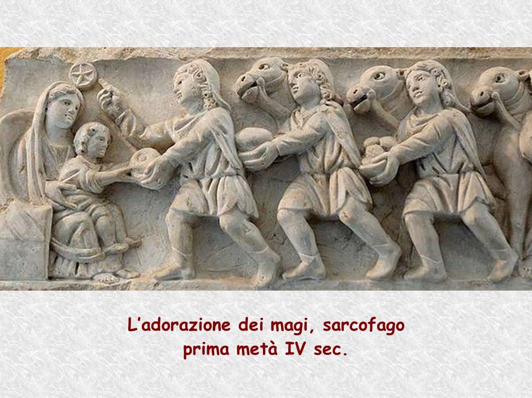 Ladorazione dei magi, sarcofago prima metà IV sec.
