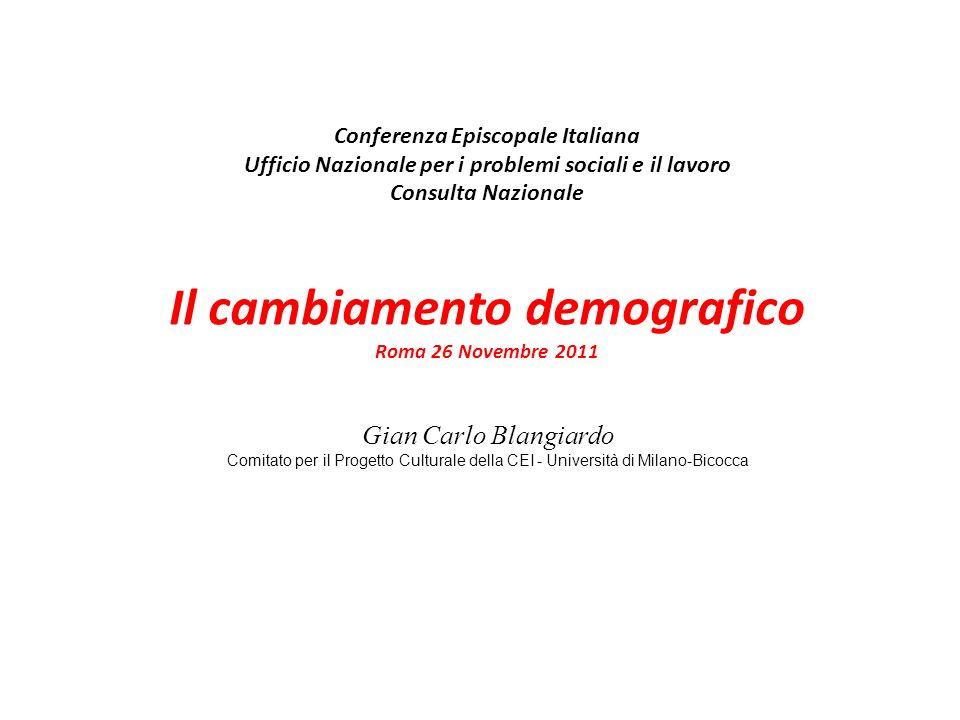 Gian Carlo Blangiardo (…) La Chiesa può apprezzare anche la ricerca sociologica e statistica, quando si rivela utile per cogliere il contesto storico nel quale lazione pastorale deve svolgersi e per conoscere meglio la verità (…) (Esortazione Familiaris Consortio, cap.5)