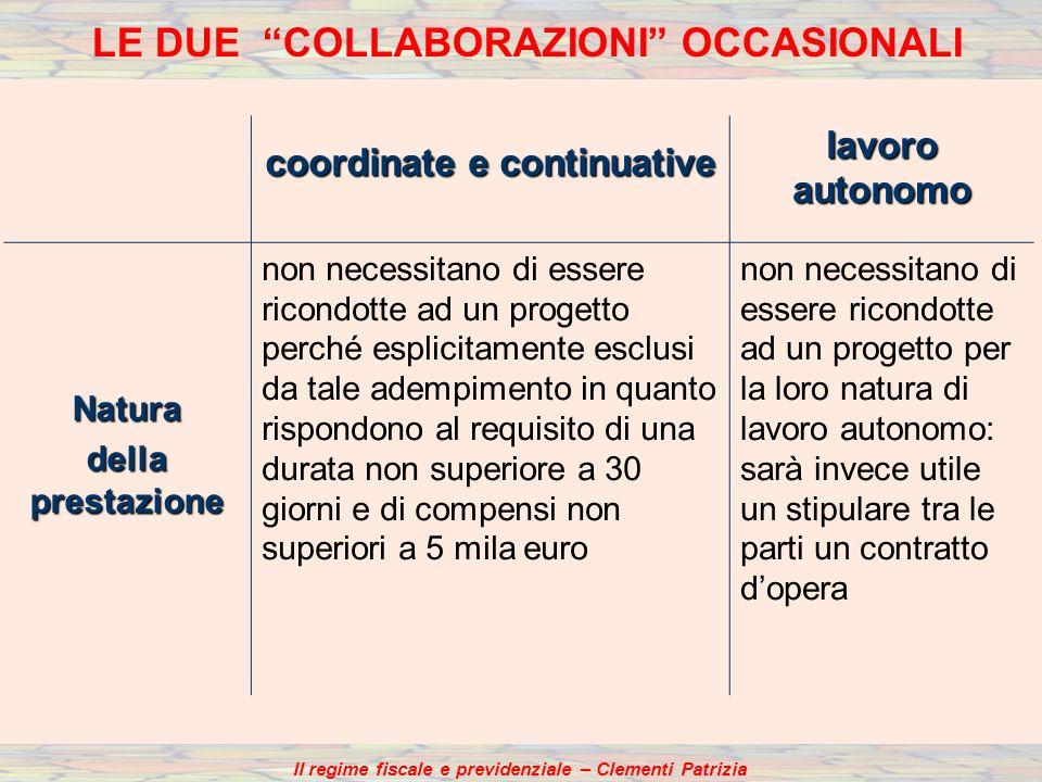 coordinate e continuative lavoro autonomo Natura della prestazione non necessitano di essere ricondotte ad un progetto perché esplicitamente esclusi d