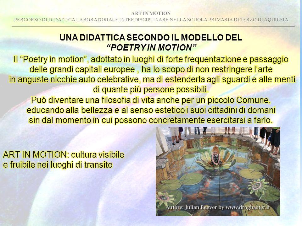 ART IN MOTION PERCORSO DI DIDATTICA LABORATORIALE INTERDISCIPLINARE NELLA SCUOLA PRIMARIA DI TERZO DI AQUILEIA UNA DIDATTICA SECONDO IL MODELLO DEL PO