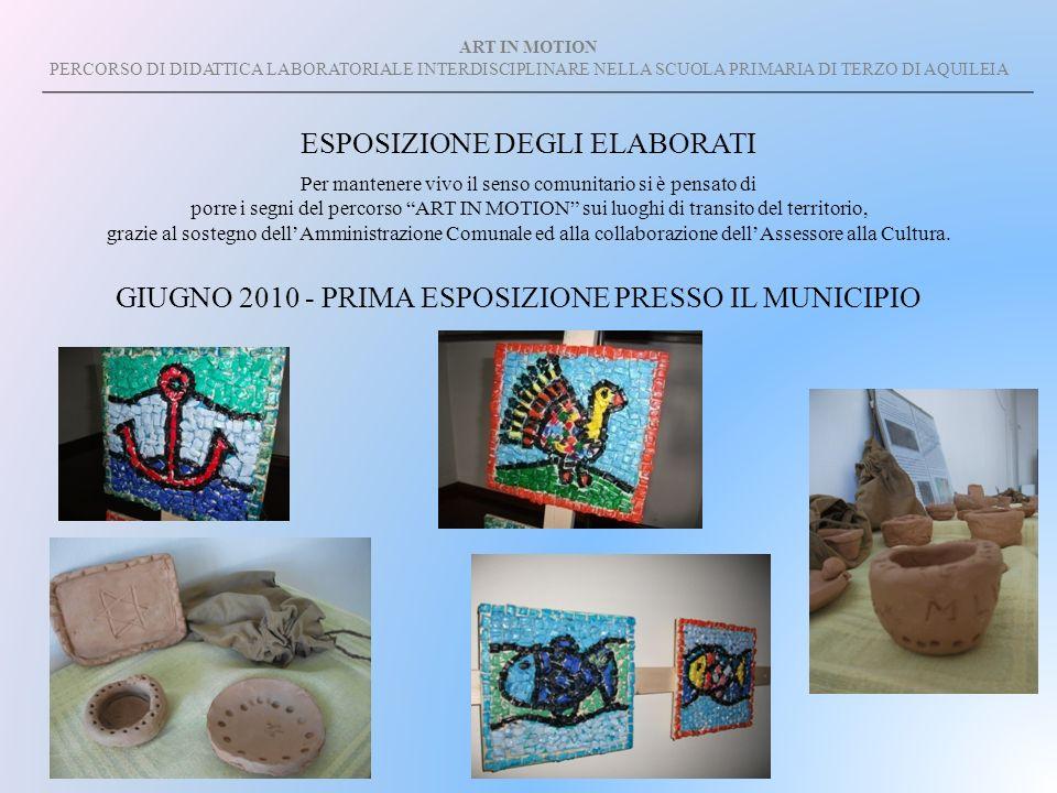 ART IN MOTION PERCORSO DI DIDATTICA LABORATORIALE INTERDISCIPLINARE NELLA SCUOLA PRIMARIA DI TERZO DI AQUILEIA Per mantenere vivo il senso comunitario