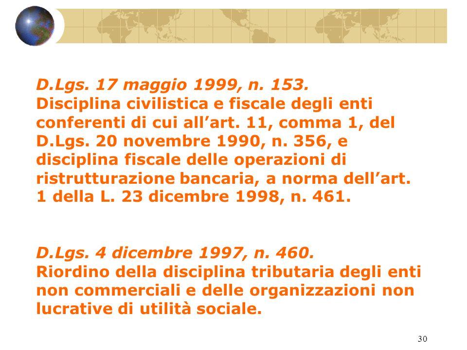 29 Art. 121 Accordi con le fondazioni bancarie.