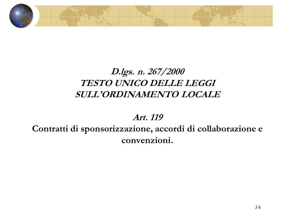 33 L. 27.12.1997, N. 449 Misure per la stabilizzazione della finanza pubblica. ART. 43