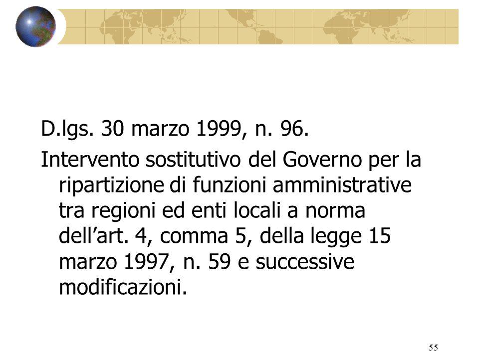 54 D.l gs. 31 marzo 1998, n. 112.
