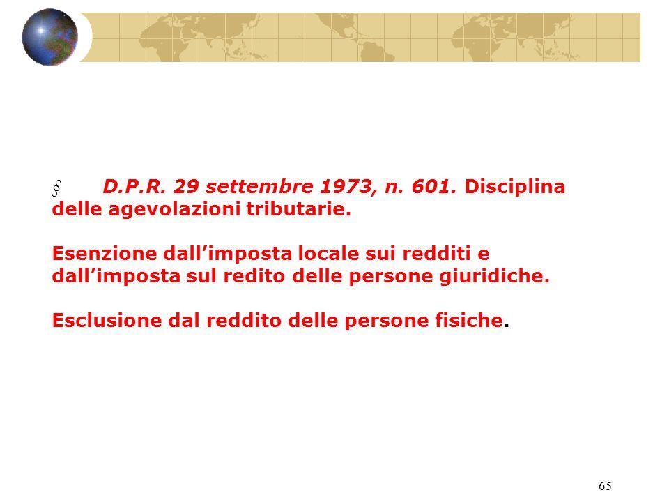 64 L.18 ottobre 2001, n. 383. Primi interventi per il rilancio delleconomia.