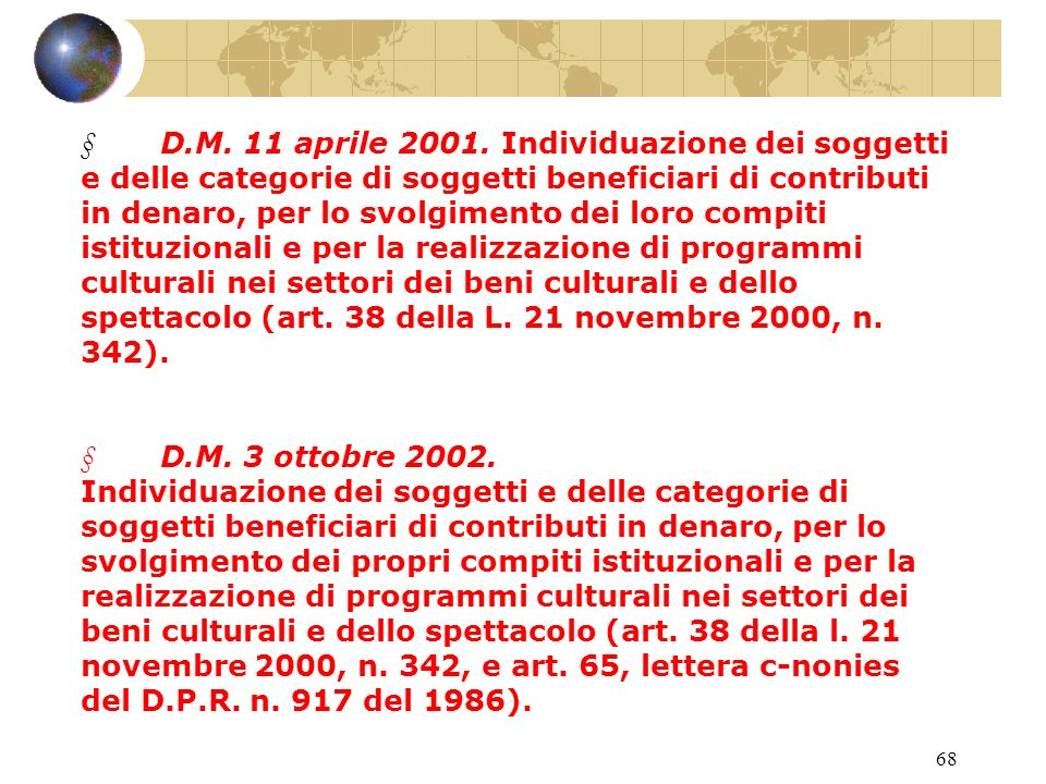 67 D.P.R.29 settembre 1973, n. 601. Disciplina delle agevolazioni tributarie.