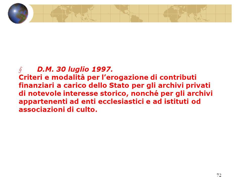 71 Circ. P.M.C. 14 febbraio 2001, n. 1619/II4.9.1.