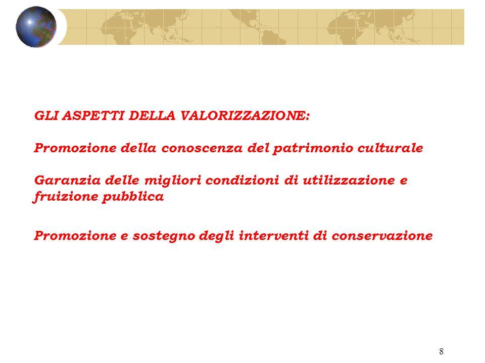 18 DECLINAZIONE DELLE ATTIVITA DI VALORIZZAZIONE: 1.