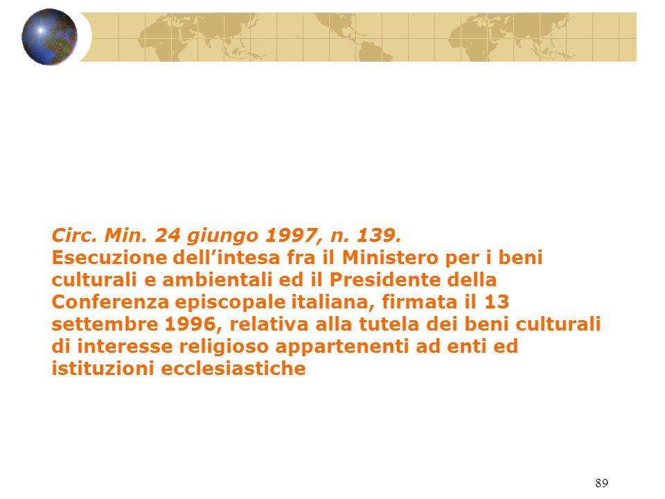 88 D.P.R. 26 settembre 1996, n. 571.