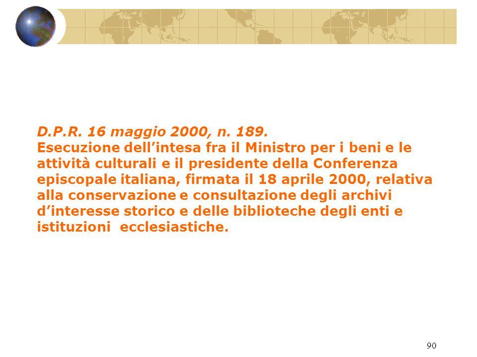 89 Circ. Min. 24 giungo 1997, n. 139.