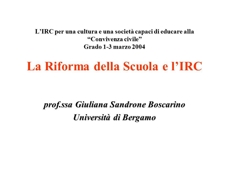 LIRC per una cultura e una società capaci di educare alla Convivenza civile Grado 1-3 marzo 2004 LIRC per una cultura e una società capaci di educare