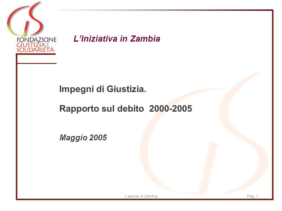 Lazione in ZambiaPag. 1 LIniziativa in Zambia Impegni di Giustizia.