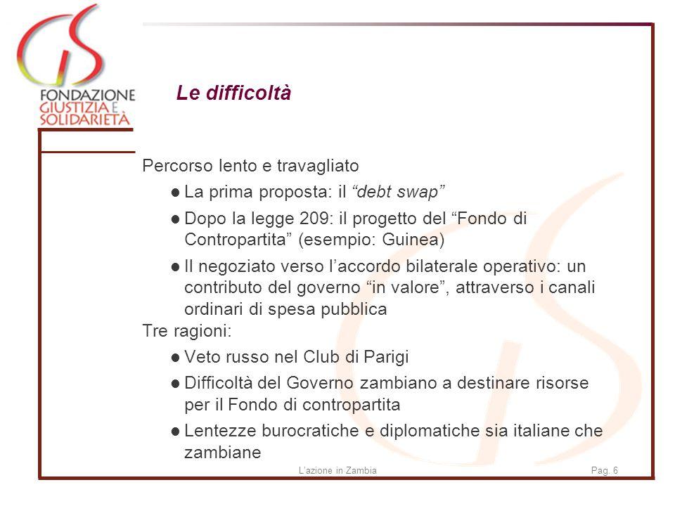 Lazione in ZambiaPag.17 Fondazione Giustizia e Solidarietà Via Aurelia 468 00165 ROMA Tel.