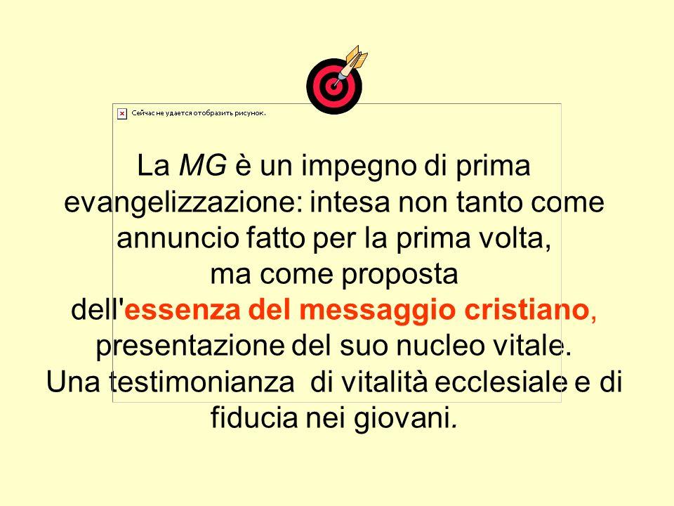 MISSIONE GIOVANI Un'esperienza di evangelizzazione Vita di gruppo Servizio e impegno (Carità) Catechesi Annuncio - Testimonianza - Segni Professione d