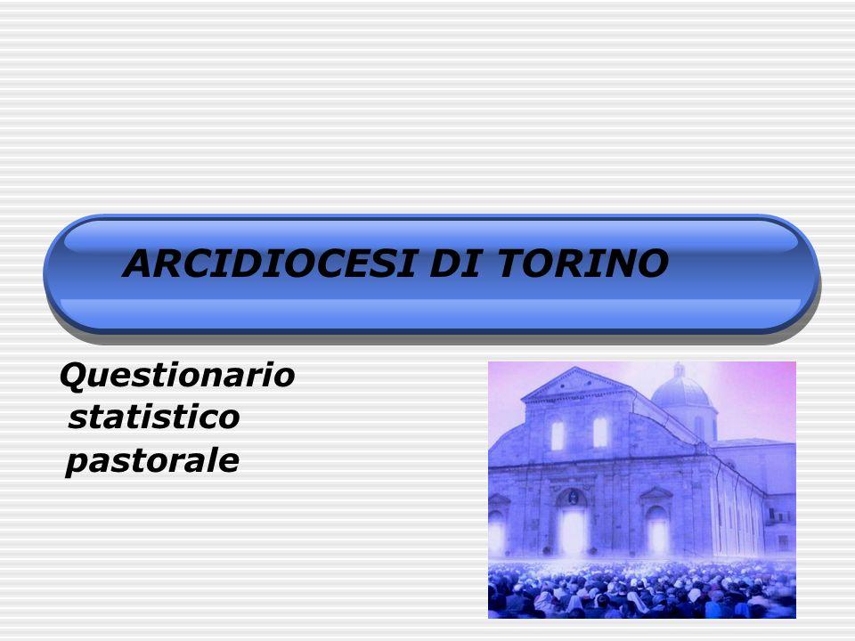 ARCIDIOCESI DI TORINO Questionario statistico pastorale