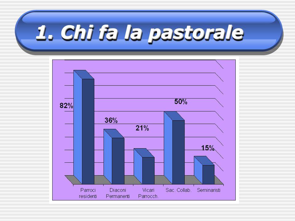 S ono presenti in gruppi stabili nel 62% delle parrocchie Sono seguiti da AnzianiAnziani