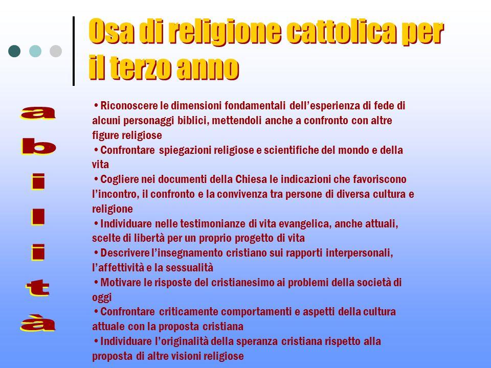 Riconoscere le dimensioni fondamentali dellesperienza di fede di alcuni personaggi biblici, mettendoli anche a confronto con altre figure religiose Co