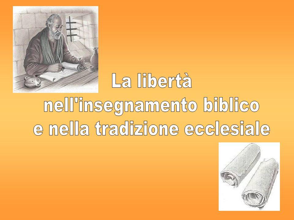 ALCUNE PREMESSE… non è scontatoIl discorso biblico sulla libertà non è scontato… relazioni«Luomo è quello che sono le sue relazioni» (M.