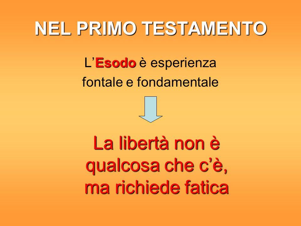 Tre schemi per esprimerla dalla schiavitù alla libertàdalla schiavitù alla libertà dalla dispersione alla solidarietàdalla dispersione alla solidarietà dagli idoli a Diodagli idoli a Dio