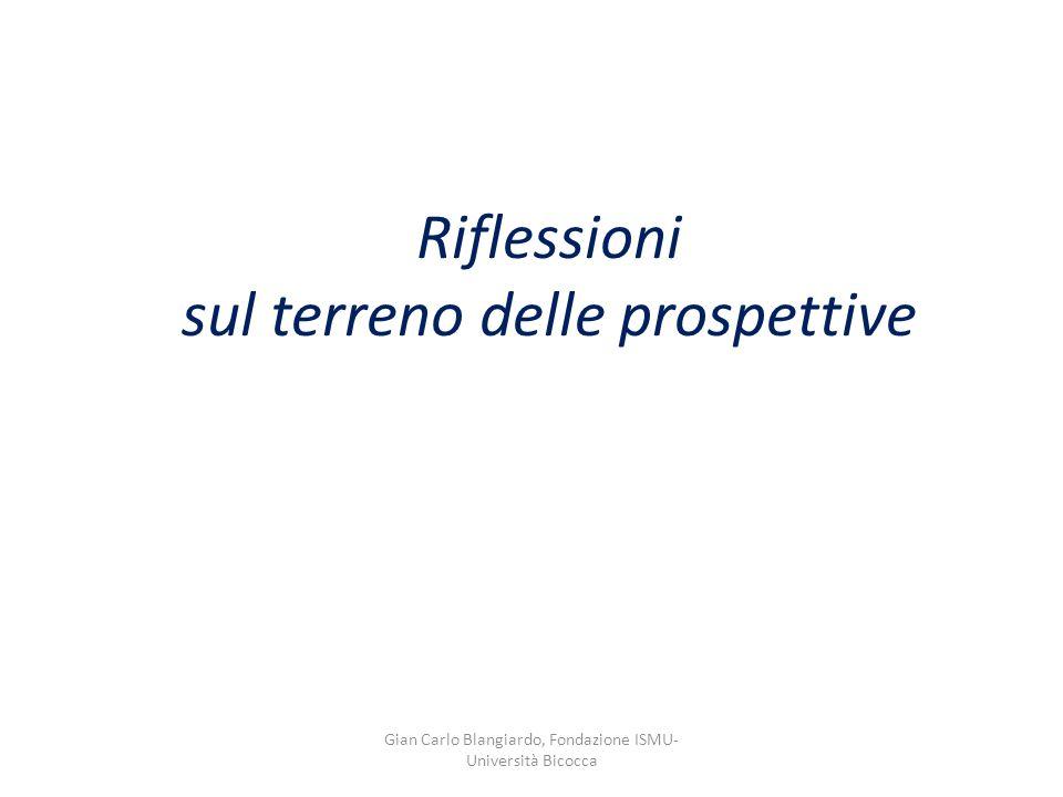 Riflessioni sul terreno delle prospettive Gian Carlo Blangiardo, Fondazione ISMU- Università Bicocca