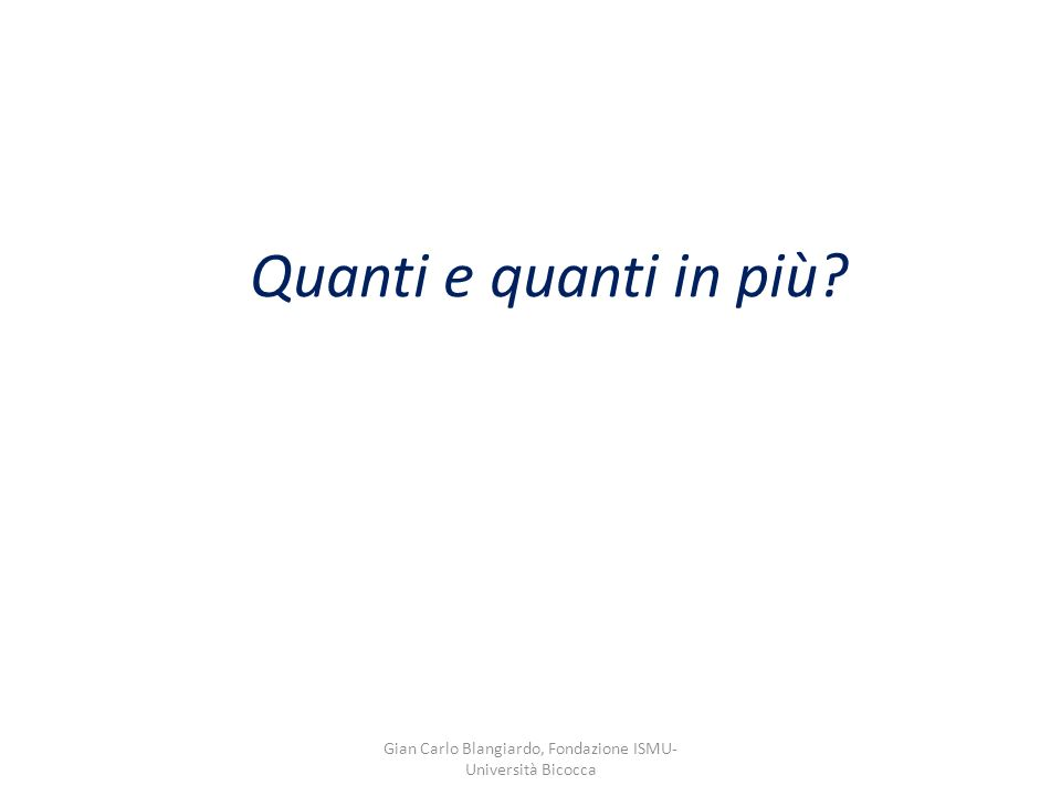 Quanti e quanti in più Gian Carlo Blangiardo, Fondazione ISMU- Università Bicocca
