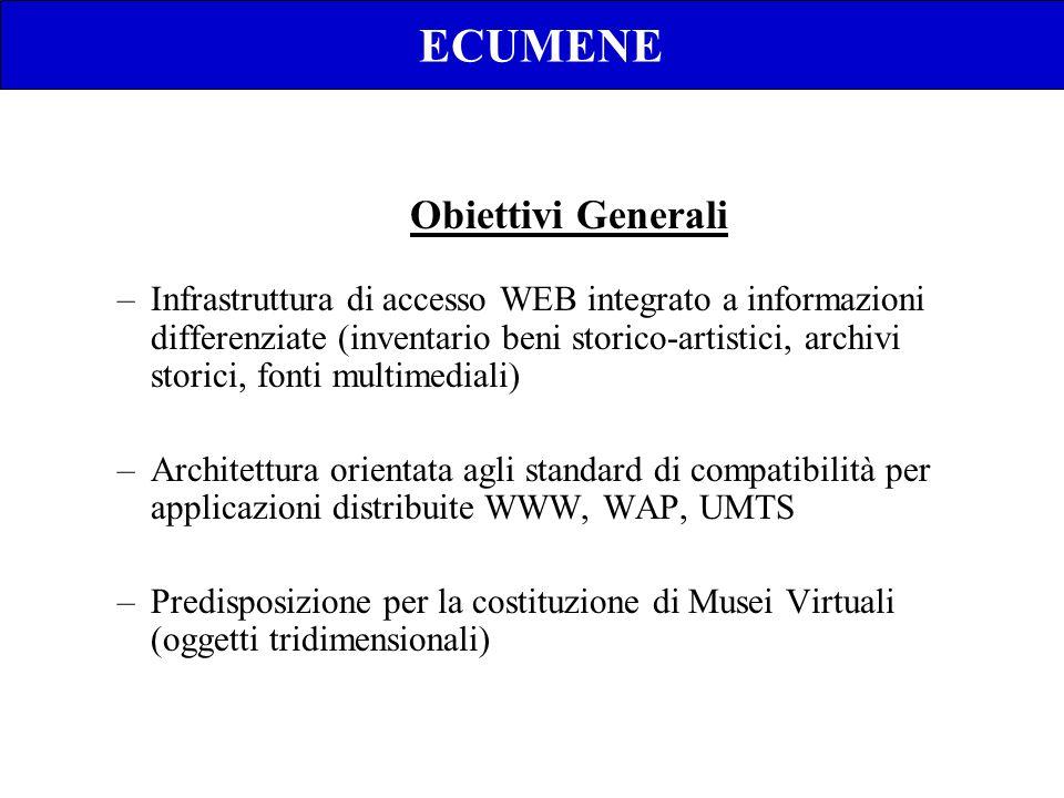 ECUMENE –Infrastruttura di accesso WEB integrato a informazioni differenziate (inventario beni storico-artistici, archivi storici, fonti multimediali)