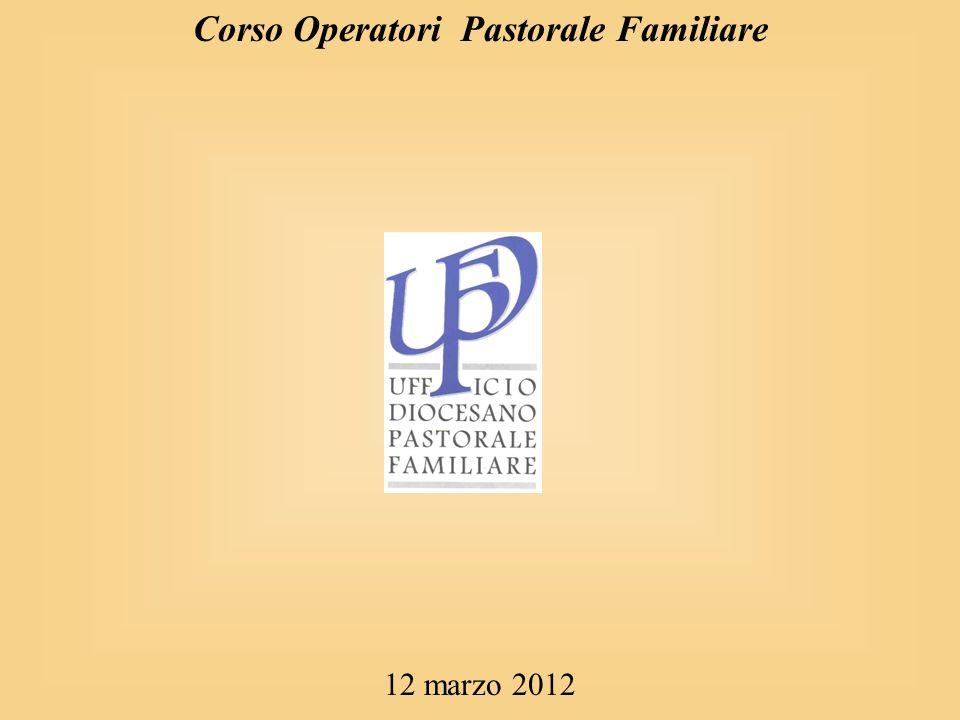 Corso Operatori Pastorale Familiare 12 marzo 2012