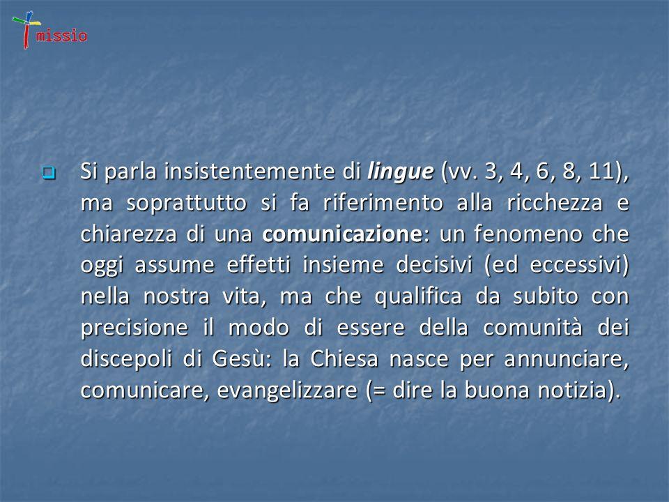 Si parla insistentemente di lingue (vv.