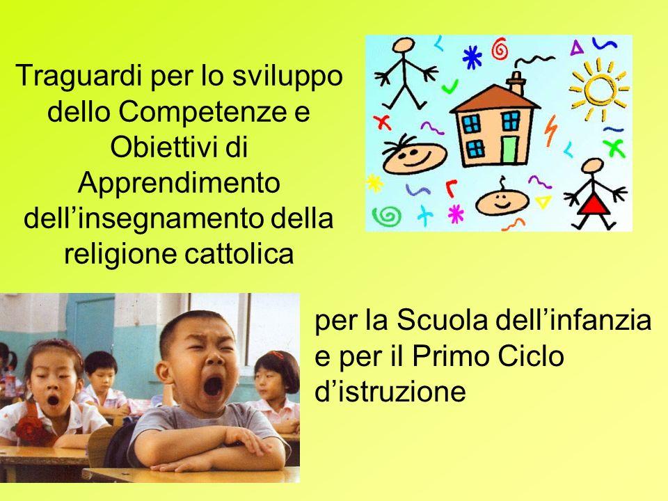 Traguardi per lo sviluppo dello Competenze e Obiettivi di Apprendimento dellinsegnamento della religione cattolica per la Scuola dellinfanzia e per il Primo Ciclo distruzione