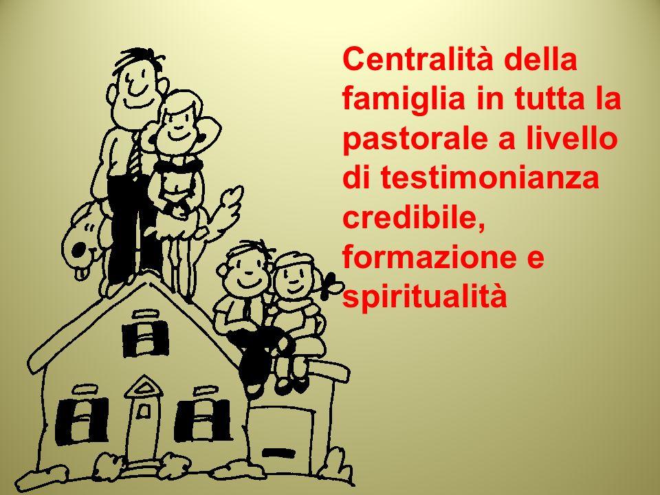 Centralità della famiglia in tutta la pastorale a livello di testimonianza credibile, formazione e spiritualità