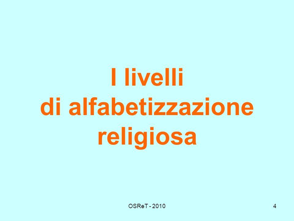 OSReT - 20104 I livelli di alfabetizzazione religiosa