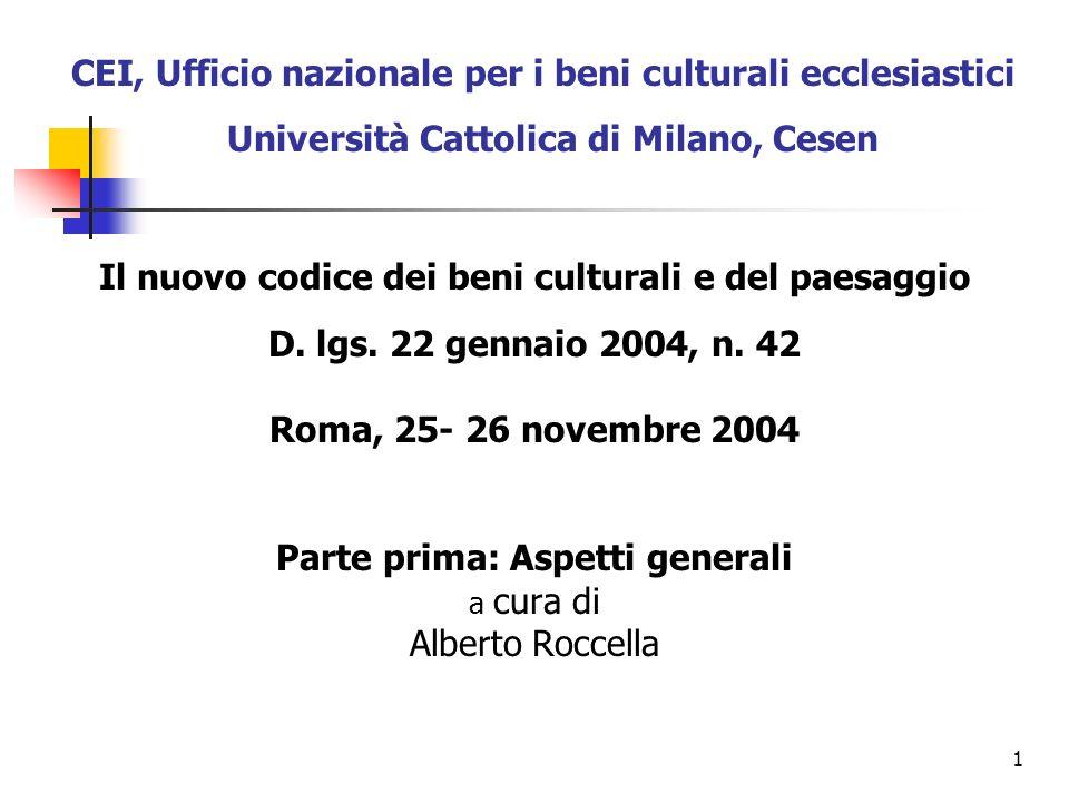 22 2.3.Il codice Urbani La nuova delega legislativa (l.