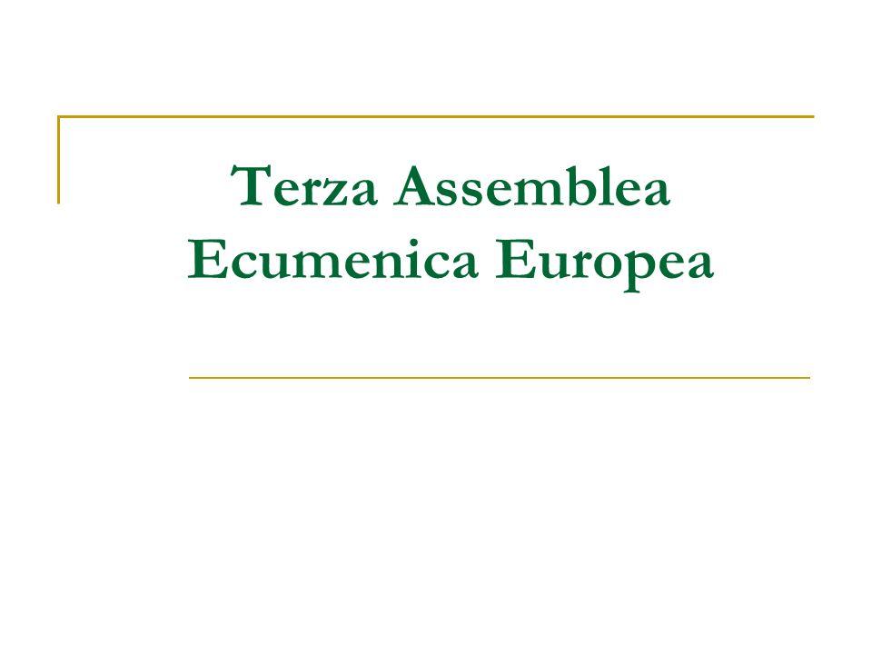 Un Processo assembleare nella tradizione delle Assemblee Basilea (1989) Graz (1997) Charta Oecumenica (2001) Processo Dal Gennaio 2006 al Settembre 2007 Assemblea Sibiu, Romania, Settembre 2007