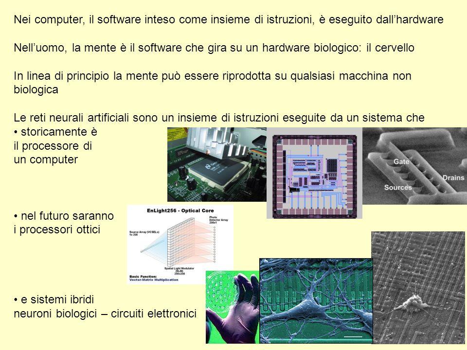 Nei computer, il software inteso come insieme di istruzioni, è eseguito dallhardware Nelluomo, la mente è il software che gira su un hardware biologic