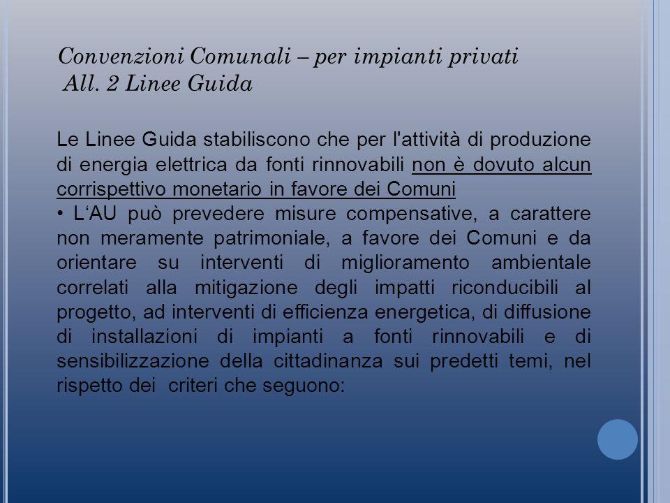 Convenzioni Comunali – per impianti privati All.