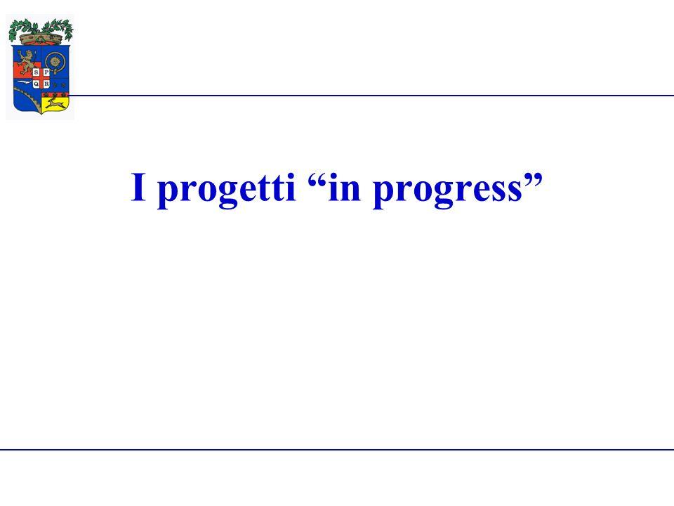 Provincia di Reggio Emilia28 Giugno 2010 I progetti in progress