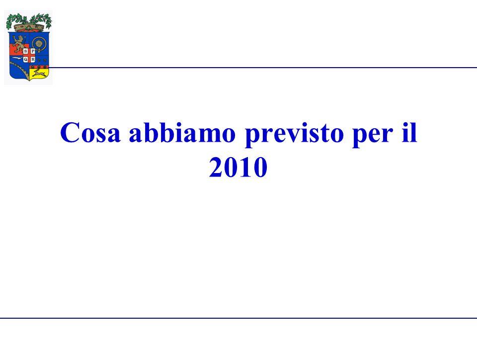 Provincia di Reggio Emilia28 Giugno 2010 Cosa abbiamo previsto per il 2010