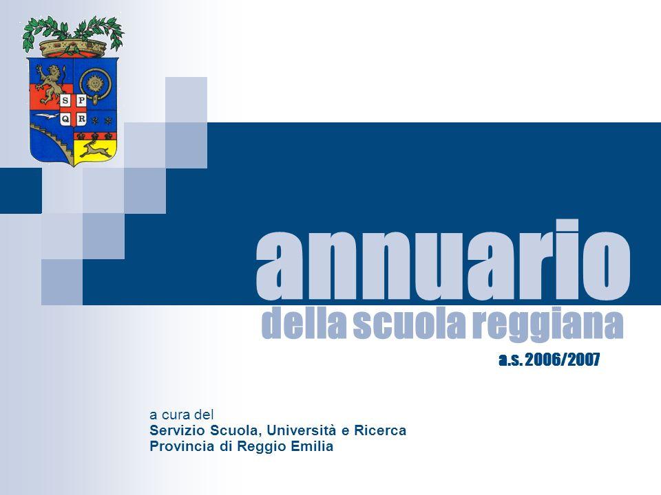 della scuola reggiana a cura del Servizio Scuola, Università e Ricerca Provincia di Reggio Emilia annuario a.s.