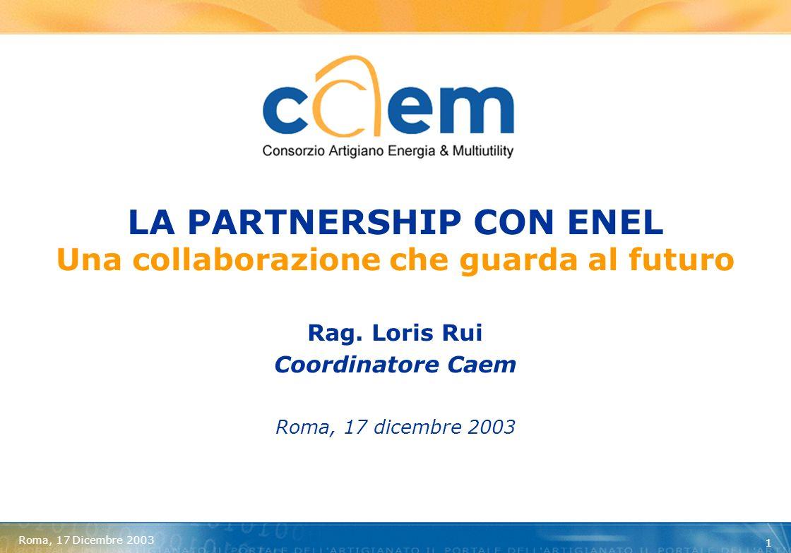 Roma, 17 Dicembre 2003 2 ASSOCIAZIONI DI CATEGORIA PRODUCONO INIZIATIVE DI POLITICA ECONOMICA EROGANO SERVIZI RAPPRESENTANO INTERESSI