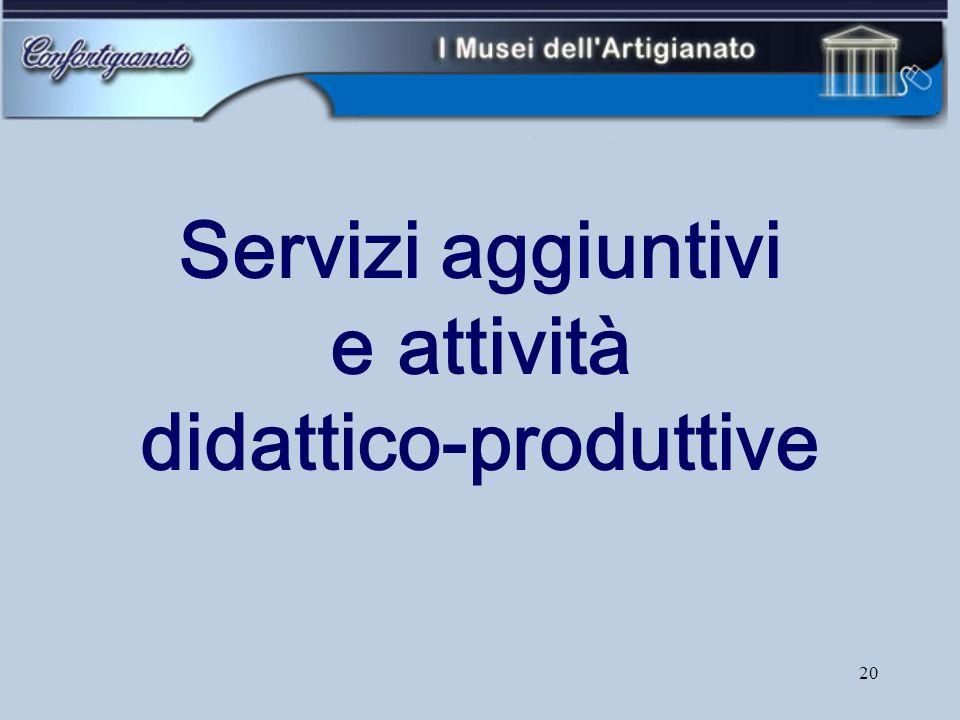 20 Servizi aggiuntivi e attività didattico-produttive