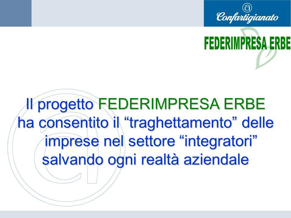 Il progetto FEDERIMPRESA ERBE ha consentito il traghettamento delle imprese nel settore integratori salvando ogni realtà aziendale