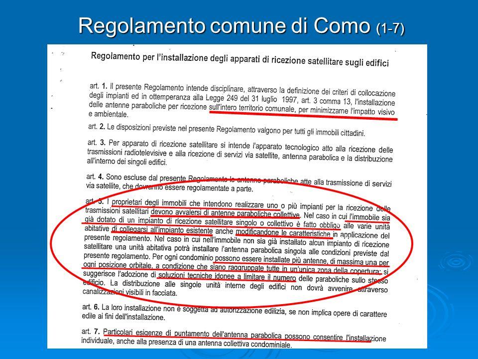 Regolamento comune di Como (1-7)