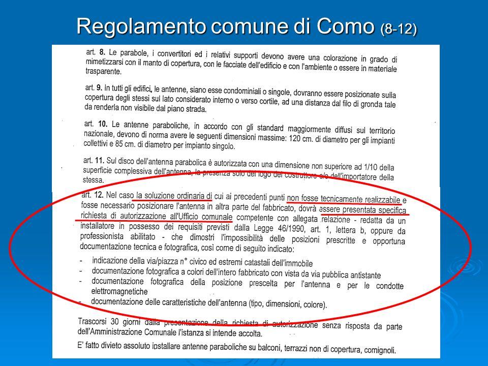 Regolamento comune di Como (8-12)
