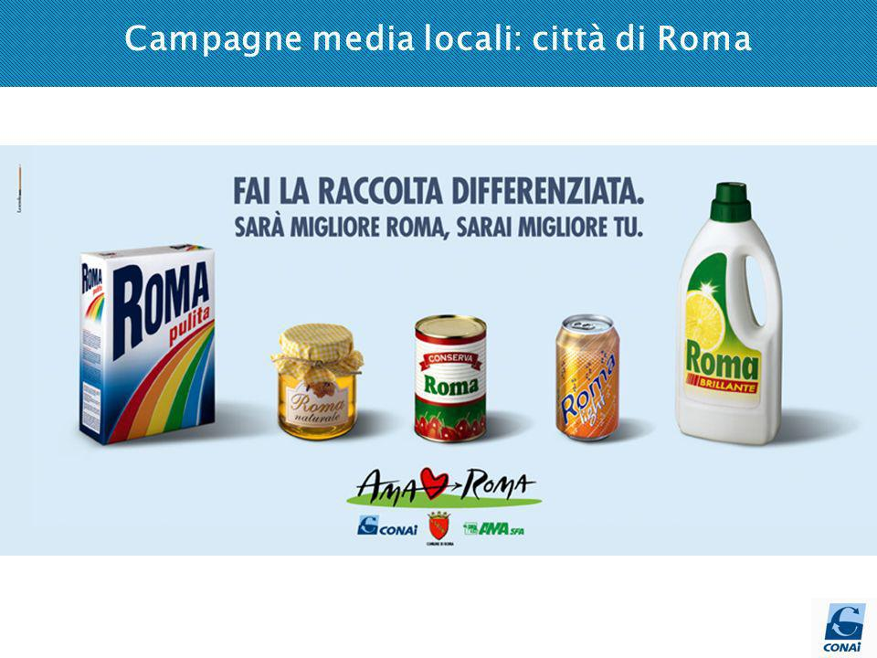 Campagne media locali: città di Roma