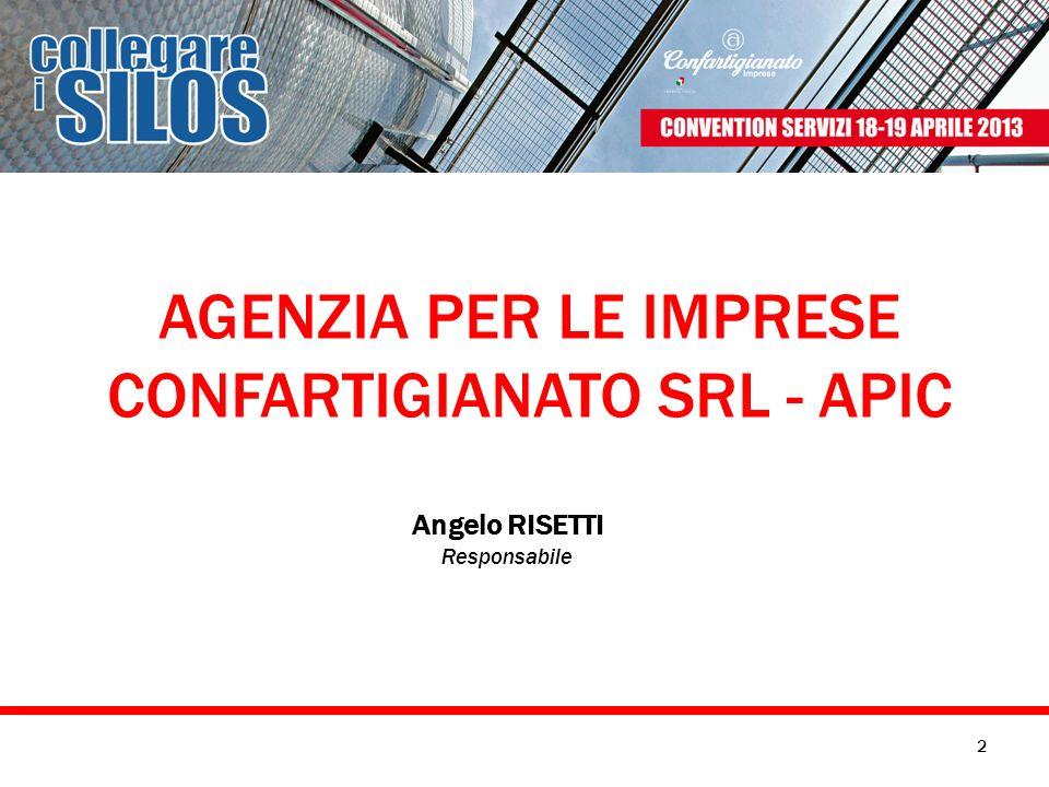 AGENZIA PER LE IMPRESE CONFARTIGIANATO SRL - APIC Angelo RISETTI Responsabile 2