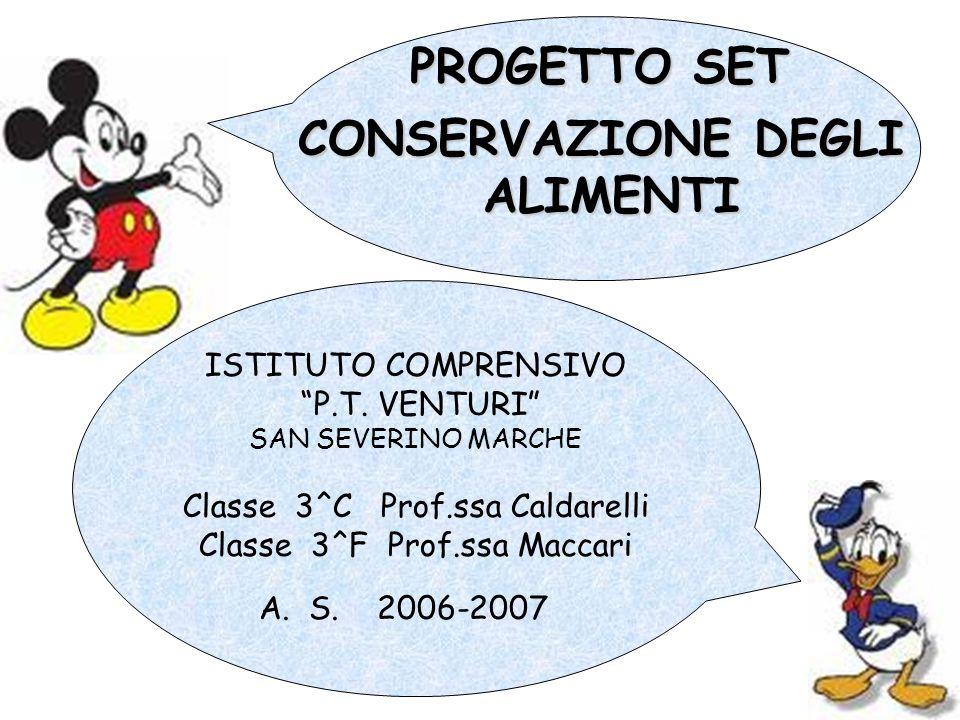 ISTITUTO COMPRENSIVO P.T. VENTURI SAN SEVERINO MARCHE Classe 3^C Prof.ssa Caldarelli Classe 3^F Prof.ssa Maccari A. S. 2006-2007 CONSERVAZIONE DEGLI A