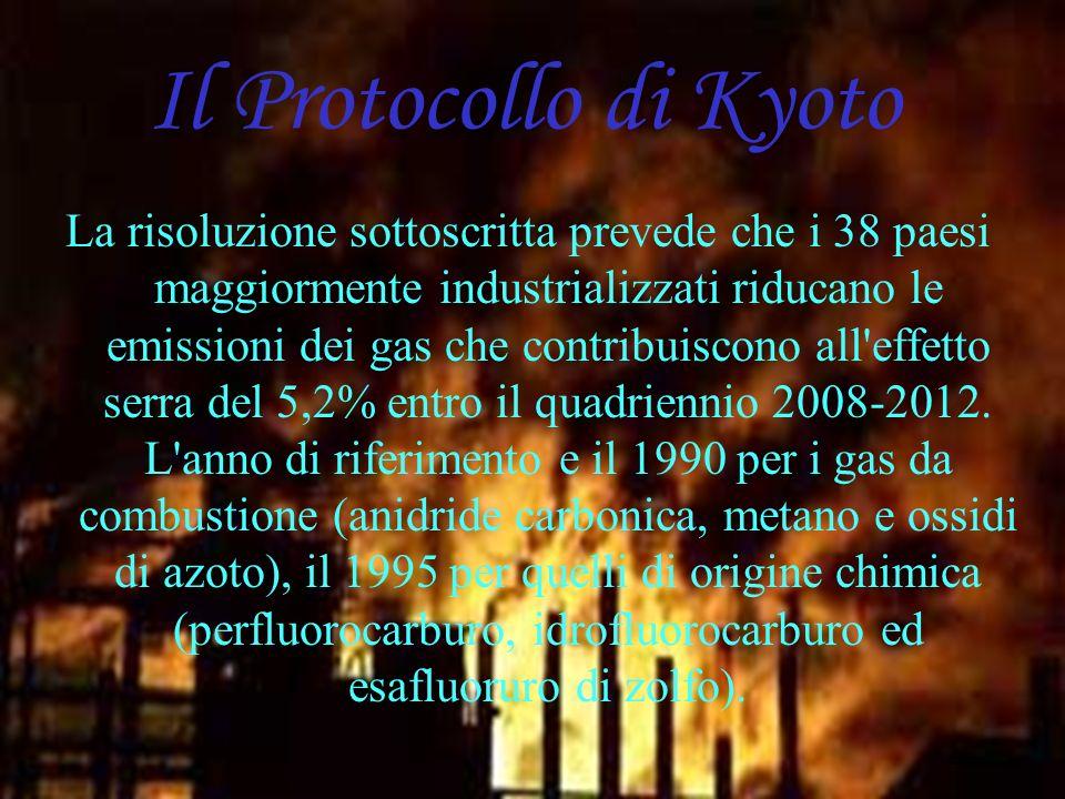 Simone Pagnanini IVA Il Protocollo di Kyoto La risoluzione sottoscritta prevede che i 38 paesi maggiormente industrializzati riducano le emissioni dei gas che contribuiscono all effetto serra del 5,2% entro il quadriennio 2008-2012.