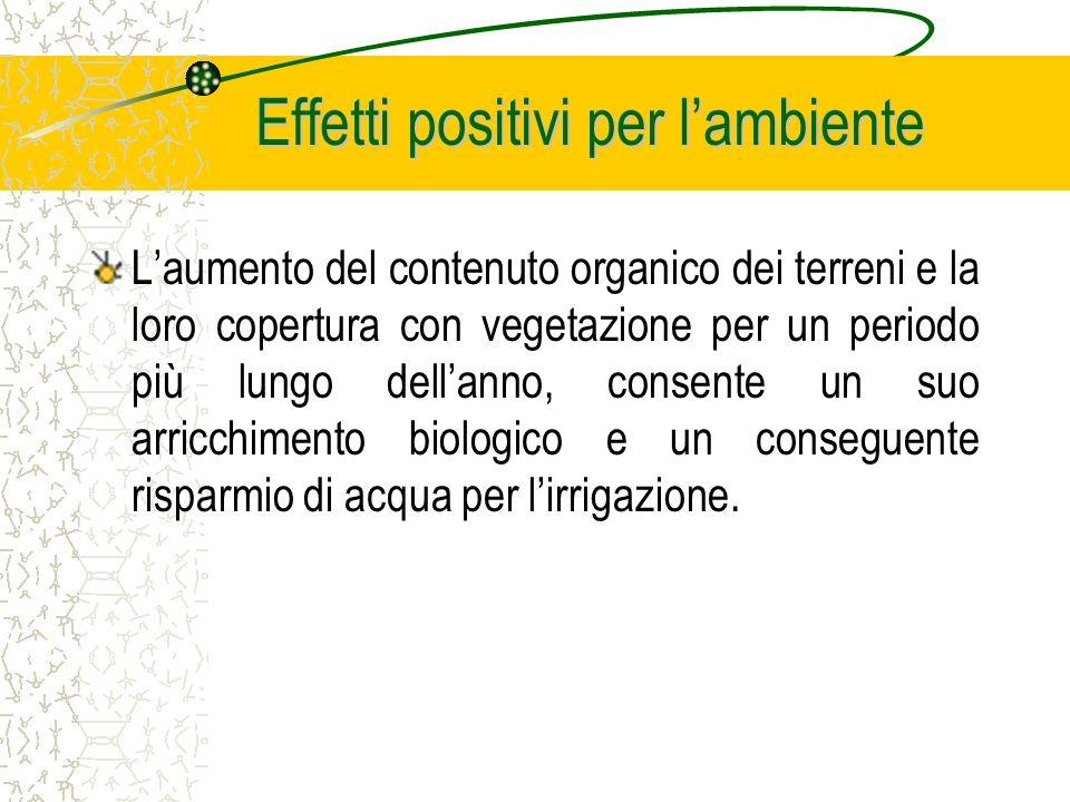 Effetti positivi per lambiente Il riutilizzo previsto dei residui organici della raffinazione degli oli usati ed i fanghi del processo industriale ins